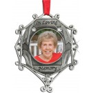 """In Loving Memory""  Pewter Ornament"